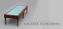 3D de la mesa en la que descansan los restos en el Museo Nacional de Antropología