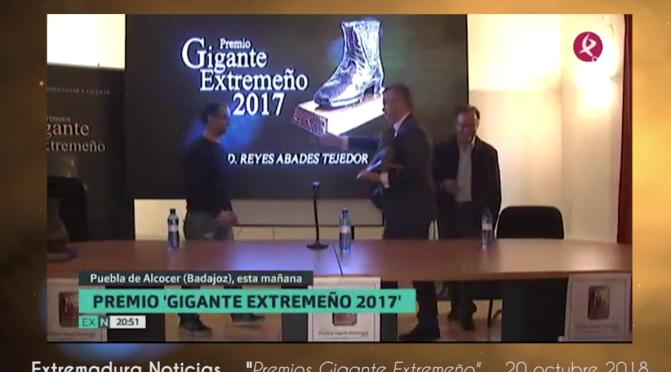 Gala de premios Gigante Extremeño 2017